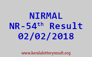 NIRMAL Lottery NR 54 Results 02-02-2018