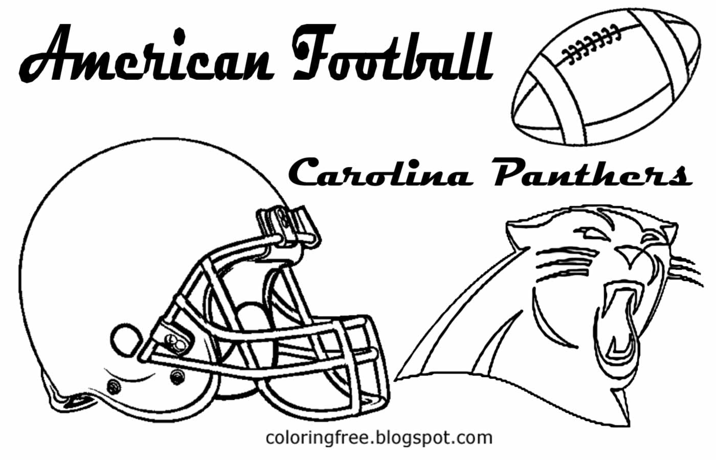 Free coloring pages printable pictures to color kids for Panthers football coloring pages