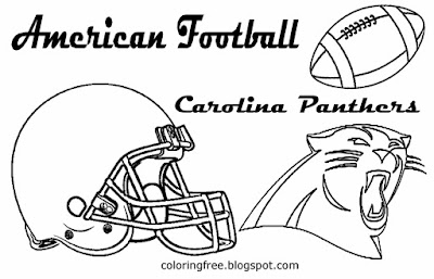 Carolina Panthers printable American football coloring pictures for schoolboys South USA team games