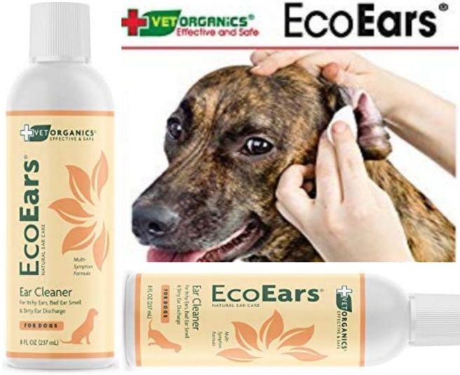 Vet Organics Dog Ear Treatment - EcoEars Cleaner for Pet Dogs