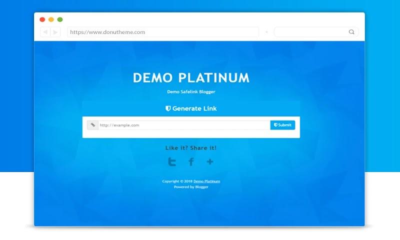 Safe Platinum safelink Blogger Template - Responsive Blogger Template