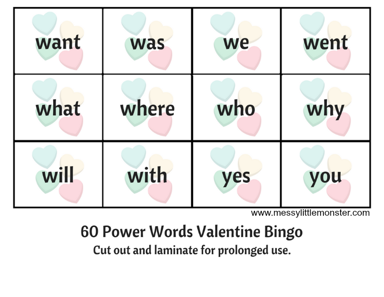 Sight Word Bingo Game for kids. Download the free printable bingo cards, power word flashcards and bingo markers. Enjoy a fun key word activity and learn to read.
