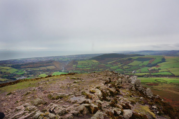 A view towards the Irish sea from the top of Sugarloaf Mountain
