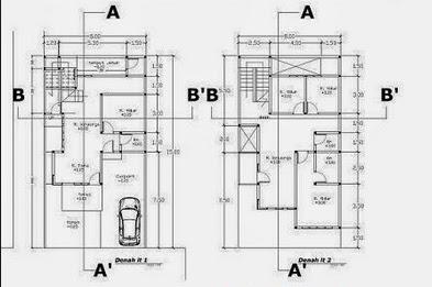 Biaya jasa desain rumah 2d detail autocad gambar lengkap
