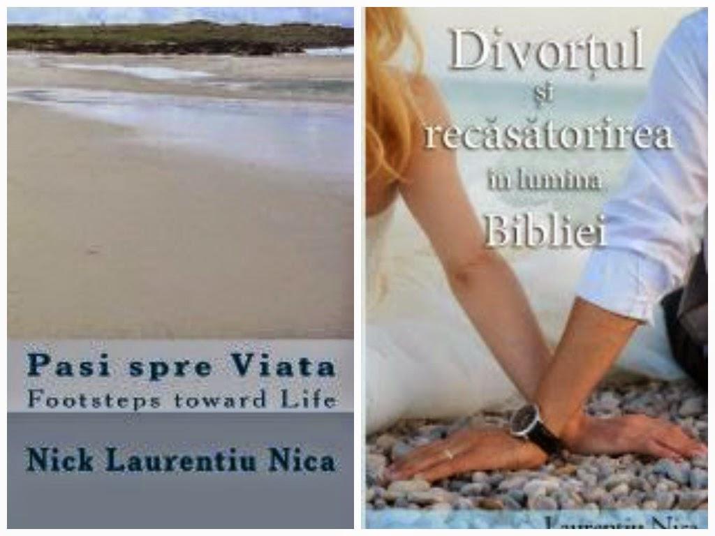 """Cartea """"Paşi spre Viaţă"""" şi """"Divorţul şi Recăsătorirea în Lumina Bibliei"""" disponibile şi pe GooglePlay"""