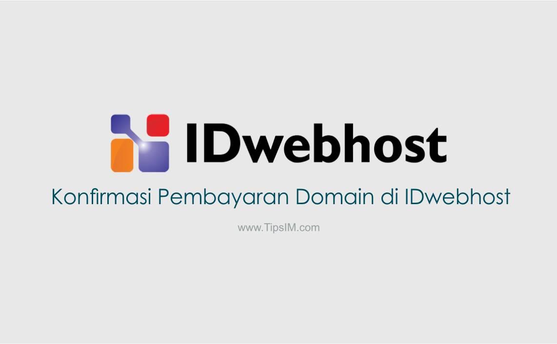 Cara Konfirmasi Pembayaran Domain di IDwebhost