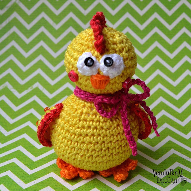 Crochet Chicken - amigurumi pattern by VendulkaM
