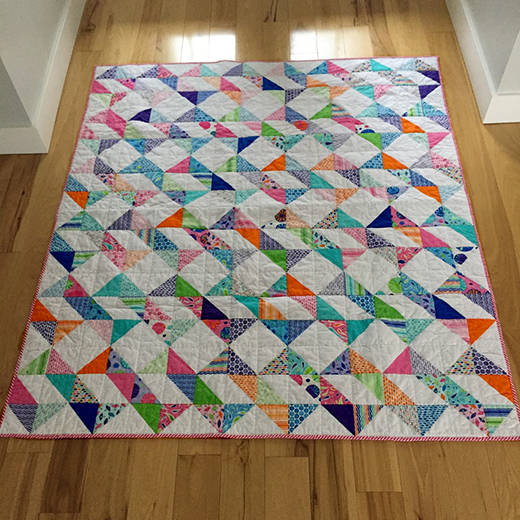 Ribbon Dance Quilt made by Jan Altomare of Cocoa Quilts, The Tutorial designed by Jenny of Missouri Quilt Co