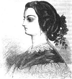Opera Coiffure, Frank Leslie's, 1857