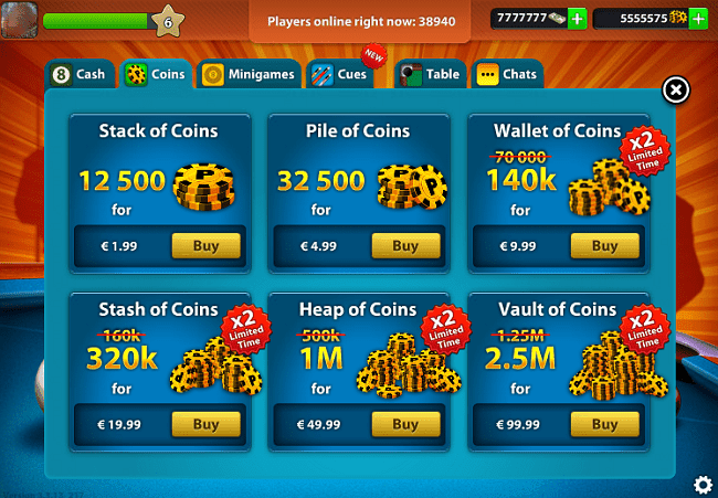 Unlimited 8 Ball Pool Coins