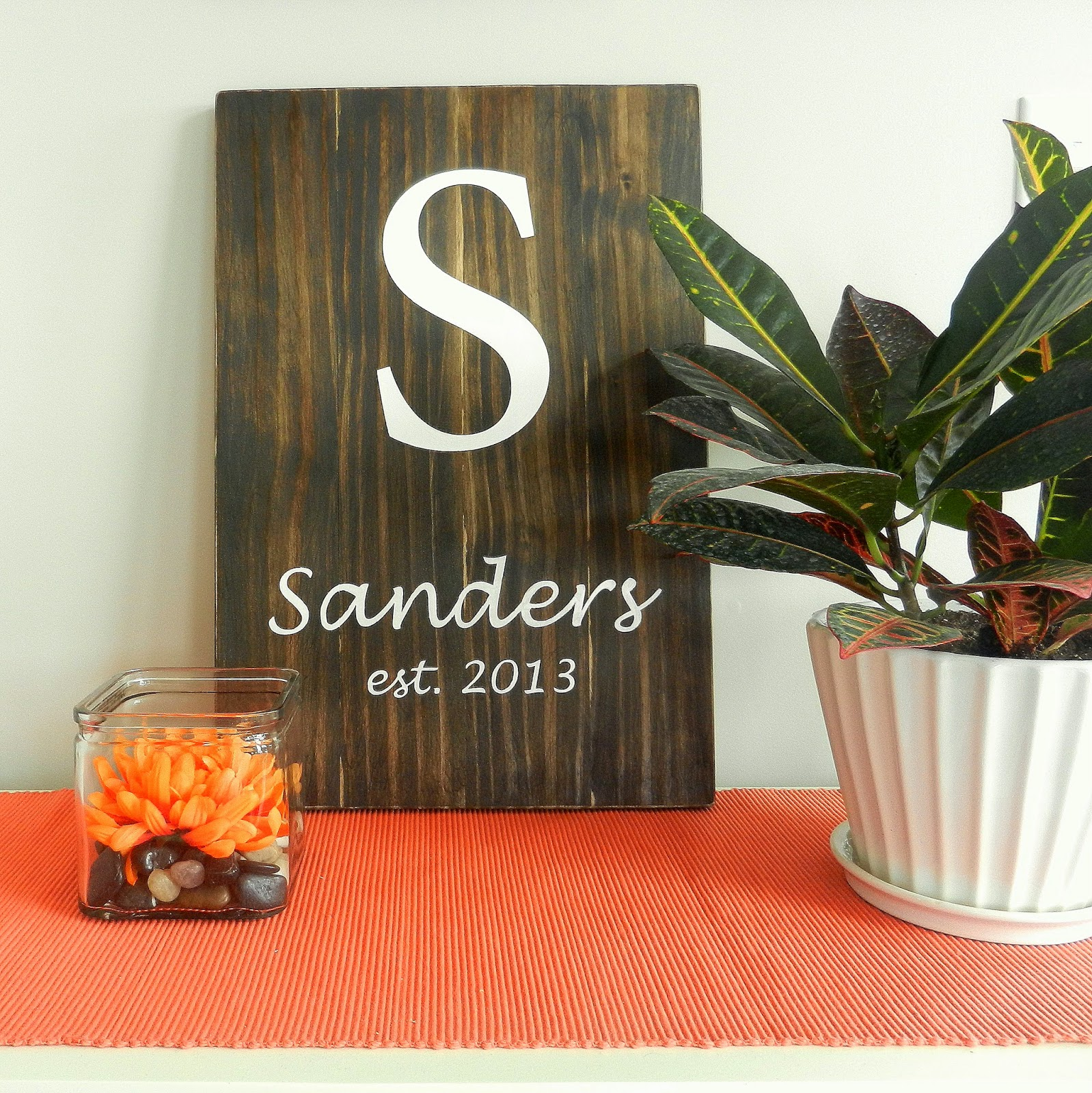 DIY Monogram Stained Wood Wall Art {DIY Friday #5 ...