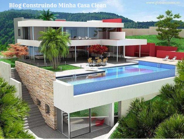Construindo Minha Casa Clean Fachadas De Casas Em