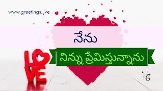 "I Love You "" Nenu Ninnu Premisthunanu "" =నేను నిన్ను ప్రేమిస్తున్నాను"