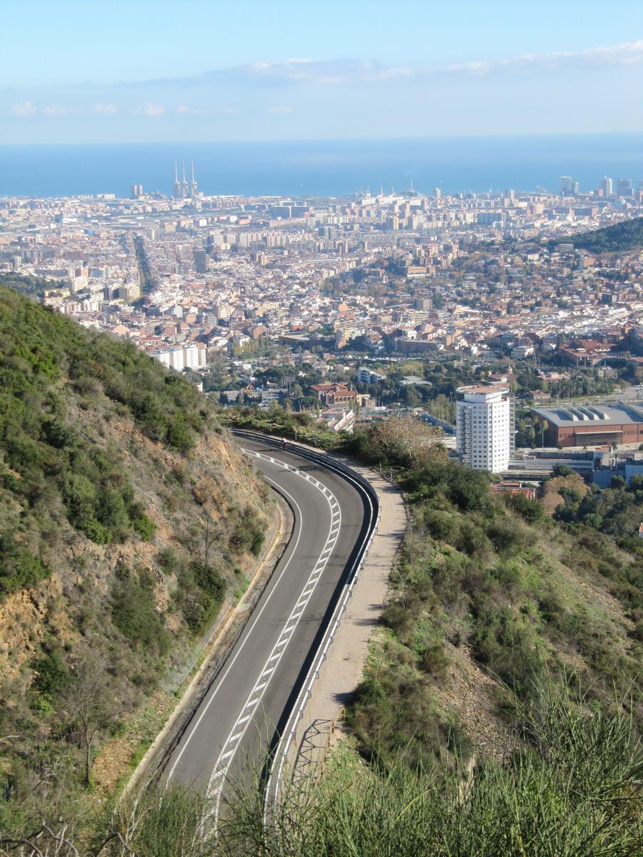 carretera bp 1417, carretera de la arrabassada, carretera barcelona a Sant Cugat