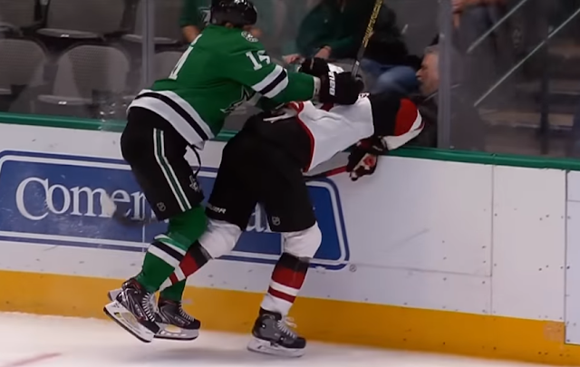 Jamie Benn ejected for hit on Oliver Ekman-Larsson 2/19/2020