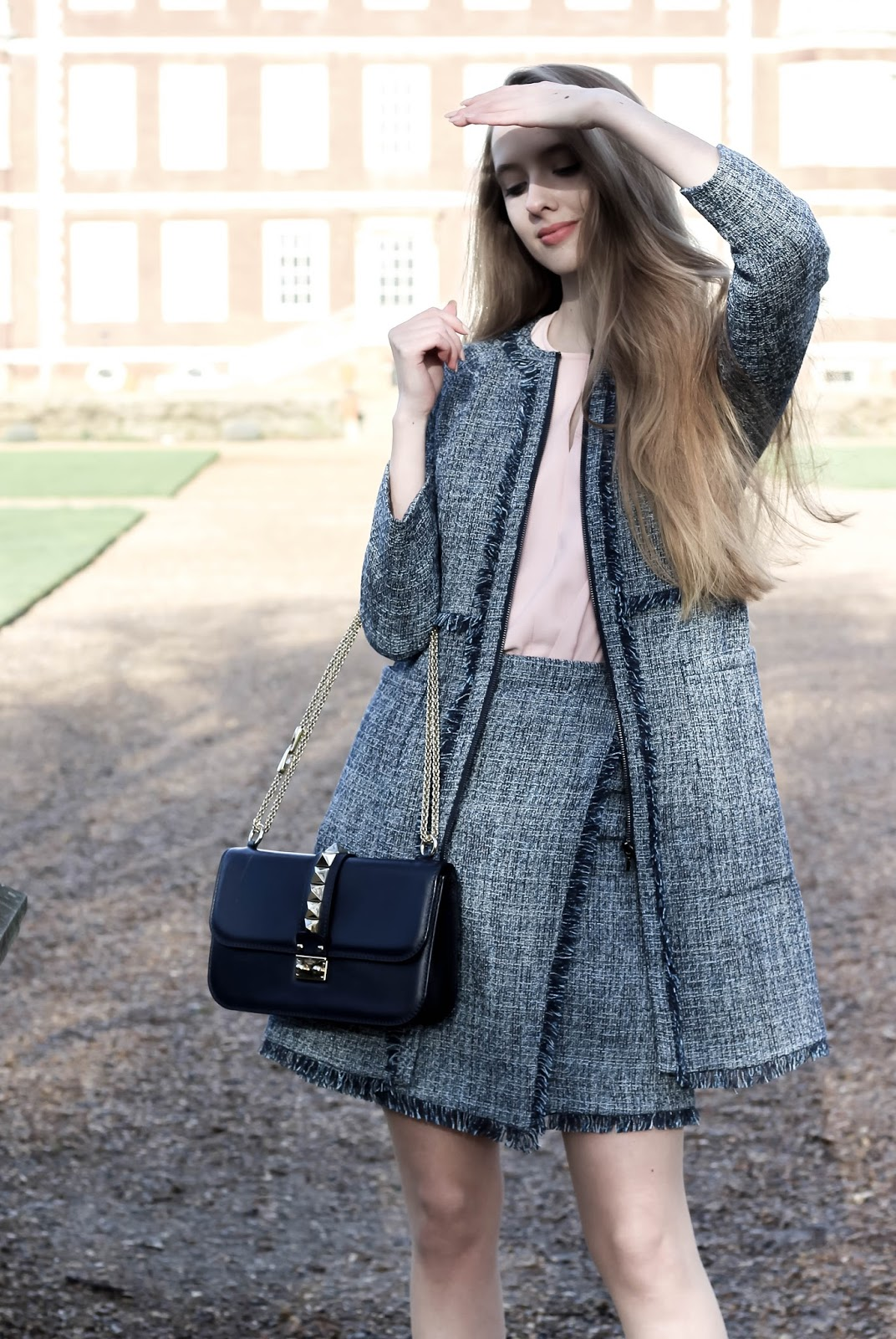 Styling a Tweed Skirt Suit for Spring 2018