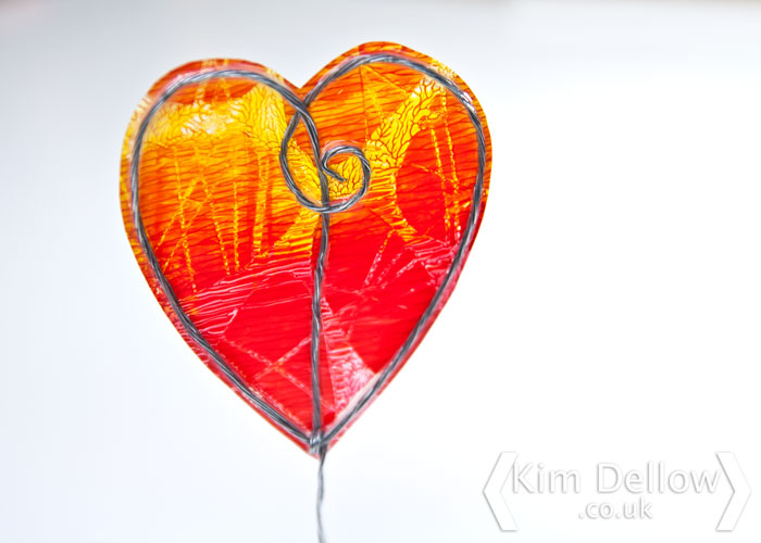 A Gel Skin heart by Kim Dellow, tutorial over on the Blitsy Blog