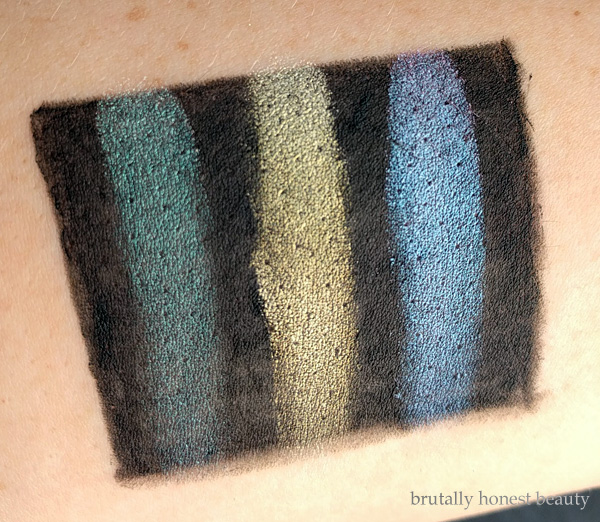Swatches of of L'Oréal Infallible Galaxy Lumiere Holographic Eyeshadows