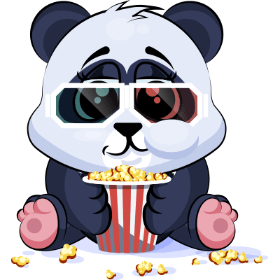 Watching a Movie sticker