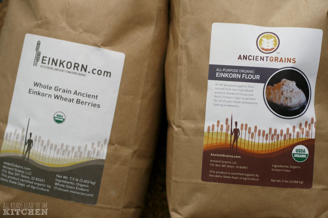 Einkorn Wheat Berries and All-Purpose Flour