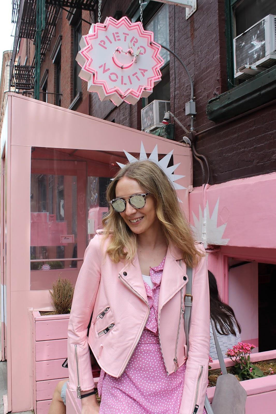total-pink-look-nakd-dress-polka-dots-wrap-dress-ruffles-barbie-pietro-nolita