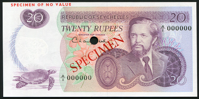 Seychelles currency Rupees banknotes images pictures