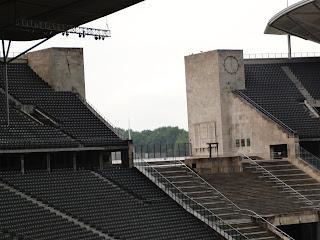 De plek waar de Olympische fakkel heeft gebrand in Berlijn
