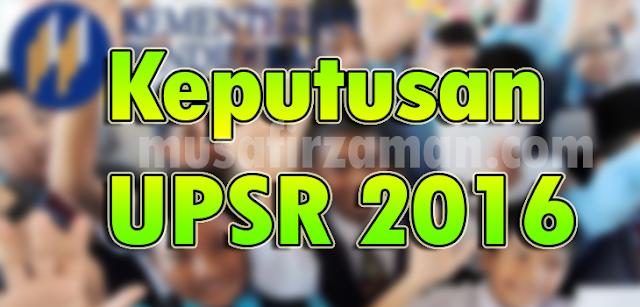 Keputusan UPSR 2016