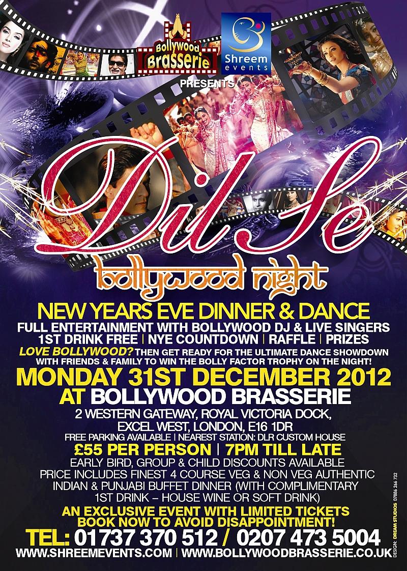 Shreem Events: Dil Se Bollywood Night - New Years Eve ...