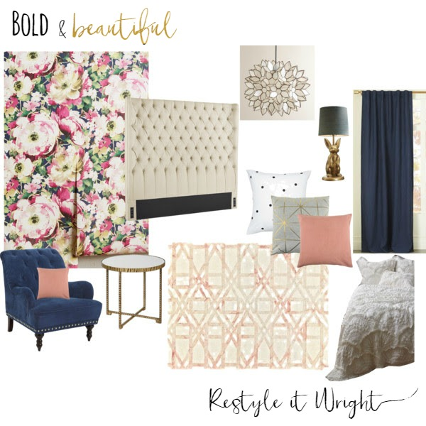 mood board restyle it wright bold and beautiful spare room