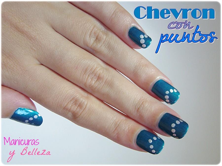 Manicuras Y Belleza Reto Colores Manicura Elegante Chevron Con - Manicuras-elegantes