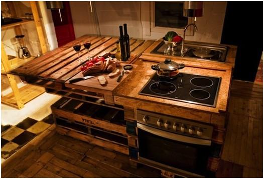 voici des id es de cuisines et meubles en palettes photos du net id es et tuto de cr ations. Black Bedroom Furniture Sets. Home Design Ideas