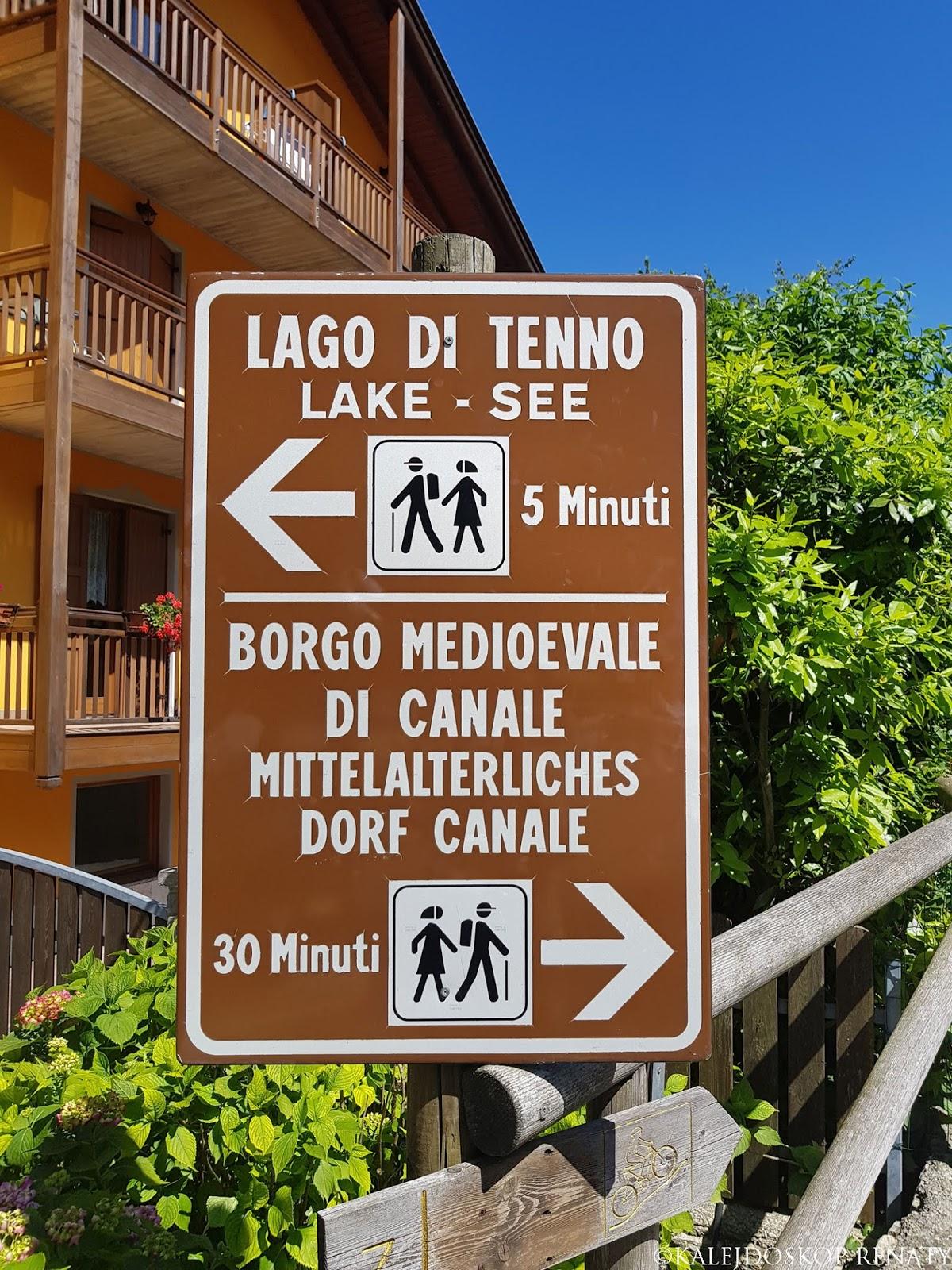 droga do miasteczka Canale di Tenno