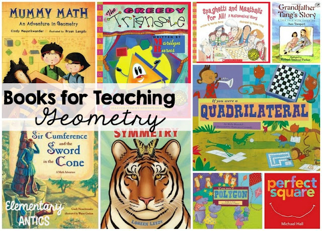 A great list of books for teaching geometry concepts in elementary school! I've used The Greedy Triangle every year.