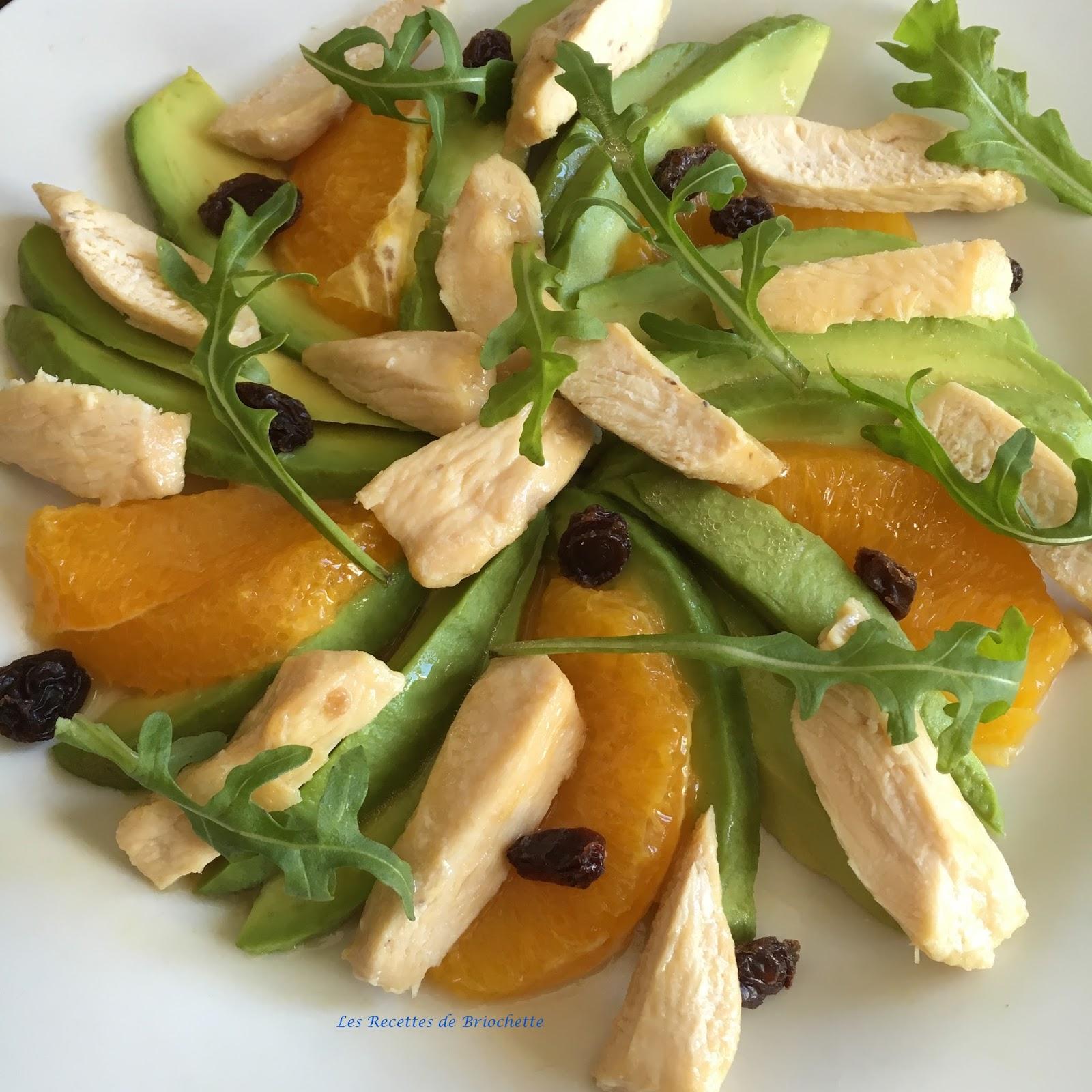 les recettes de briochette salade d 39 avocats orange et poulet. Black Bedroom Furniture Sets. Home Design Ideas