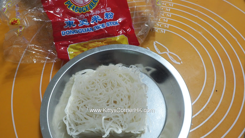 Chinese dried shrimp with Cheese in rice vermicelli soup 蝦乾芝士湯米粉 自家食譜 home cooking recipes