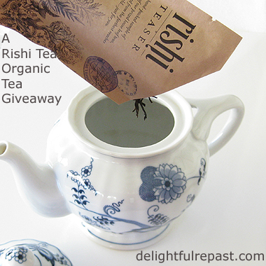 Rishi Tea Review and Giveaway / www.delightfulrepast.com