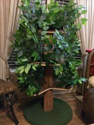 Cat Tree Furniture With Leaves: A Realistic Cat Tree To Enhance Your Home Decor.
