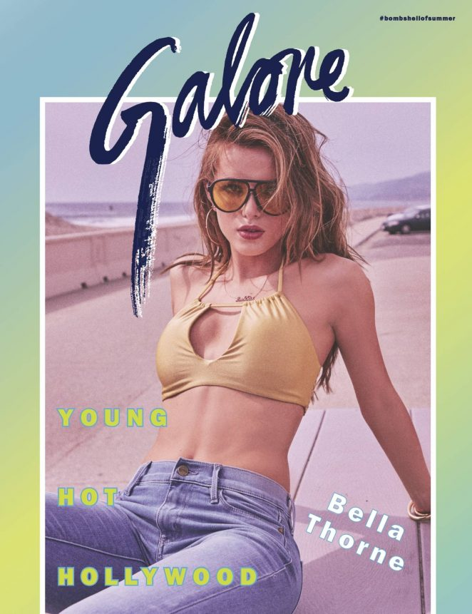 Bella Thorne strips to revealing bikinis for Galore Magazine