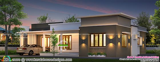 1500 sq-ft Villa design plan by Greenline Architects, Calicut