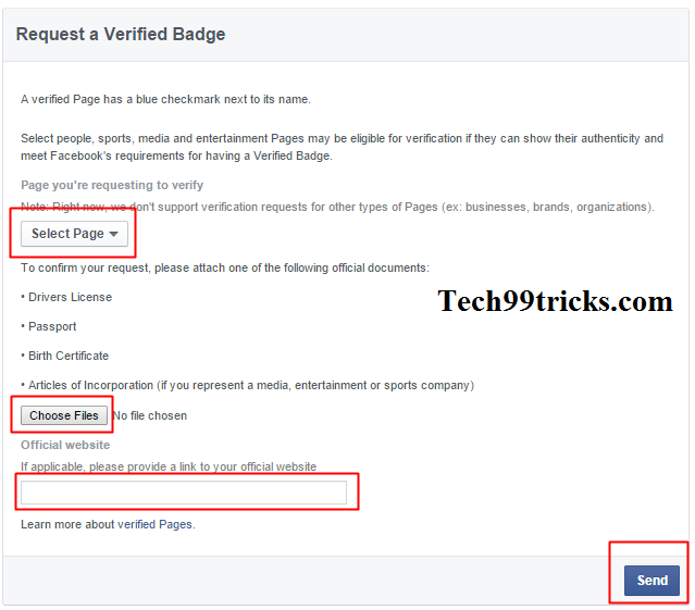 How To Get Your Facebook Page Verified with Blue Badge - Tech99tricks