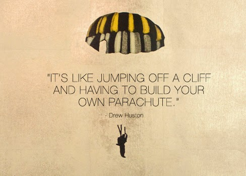 Drew Huston parachute quote