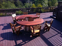 Mathew Isaac' Woodworks Salvaged Redwood Patio Furniture