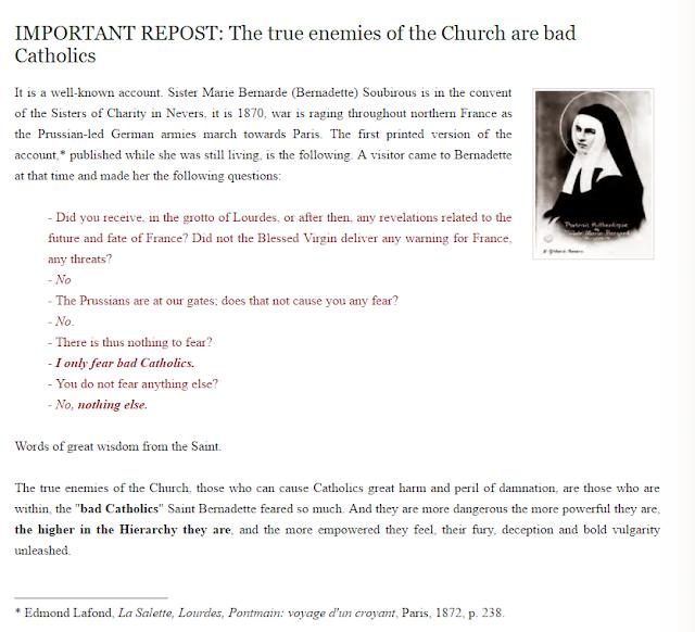 The true danger for Catholics is bad Catholics