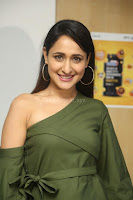Pragya Jaiswal in a single Sleeves Off Shoulder Green Top Black Leggings promoting JJN Movie at Radio City 10.08.2017 103.JPG