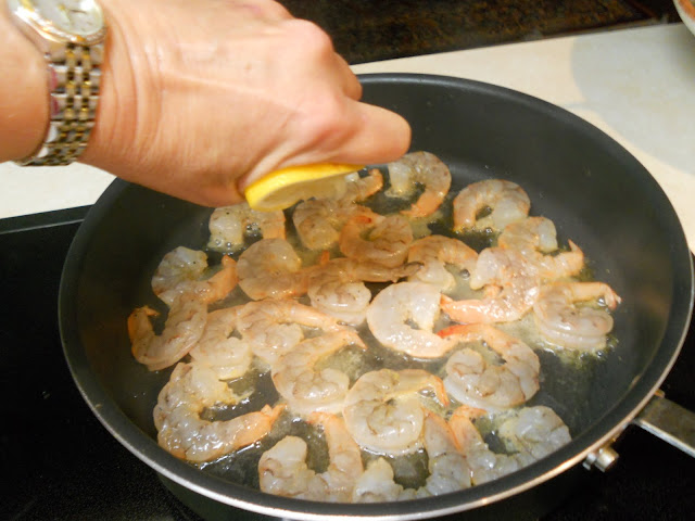 Season the Shrimp with Lemon