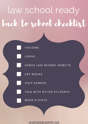 7 things to do the summer before law school starts. What to do before law school orientation. How to get ready for law school. What to do after being accepted into law school. How to prepare the summer before law school. What to do the summer before law school. What to do before law school. Law school back to school checklist. 7 things to do before the first day of law school. law school advice. law school tips. law school blog. law student blogger. | brazenandbrunette.com