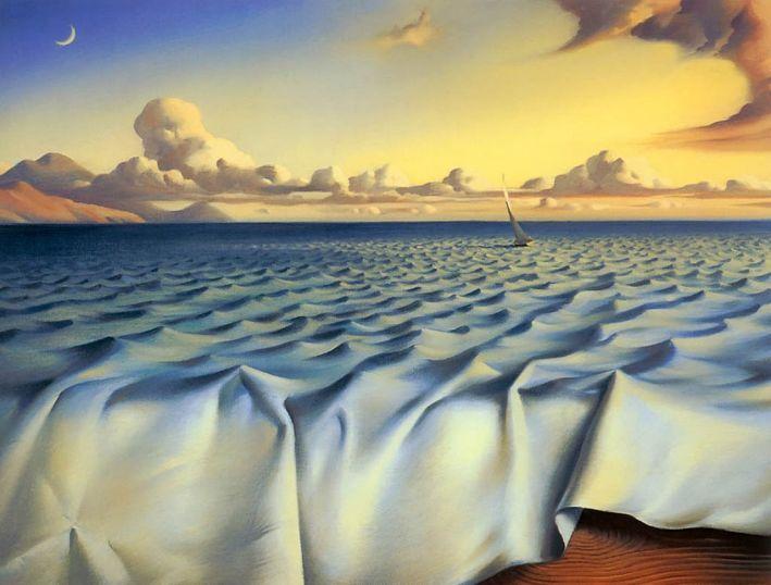 Ondulações no Oceano - Vladimir Kush