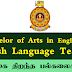 Bachelor of Arts Degree in English & English Language Teaching - இலங்கை திறந்த பல்கலைக்கழகம்.