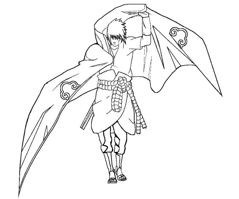 sasuke uchiha coloring pages - photo#13